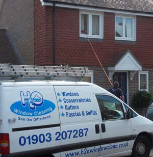 H2O Window Cleaner -  cleaning windows in Worthing